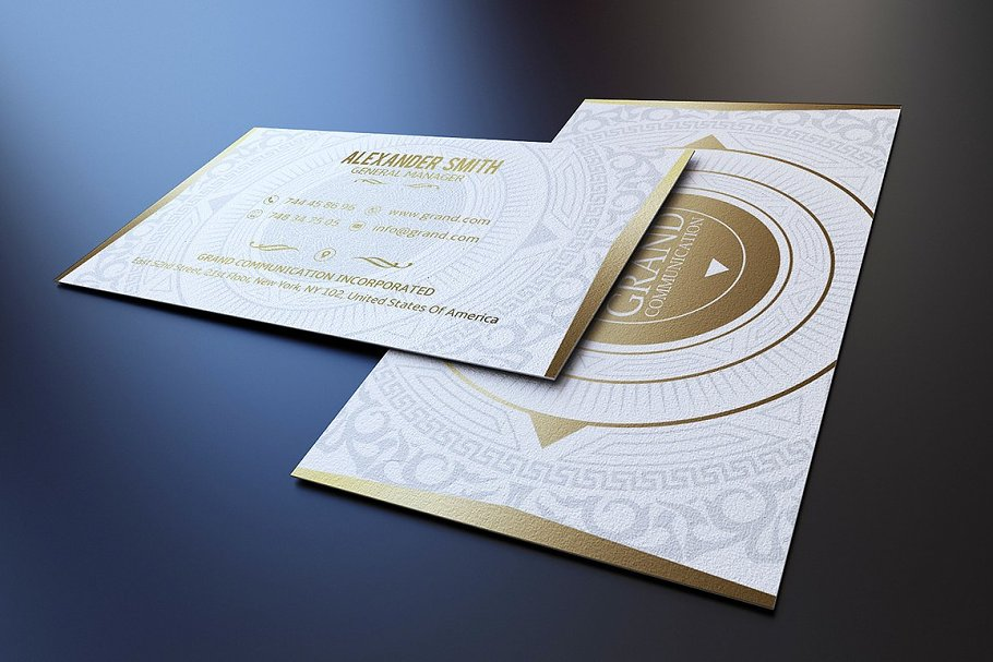 50 Golden Business Cards Bundle in Business Card Templates - product preview 32