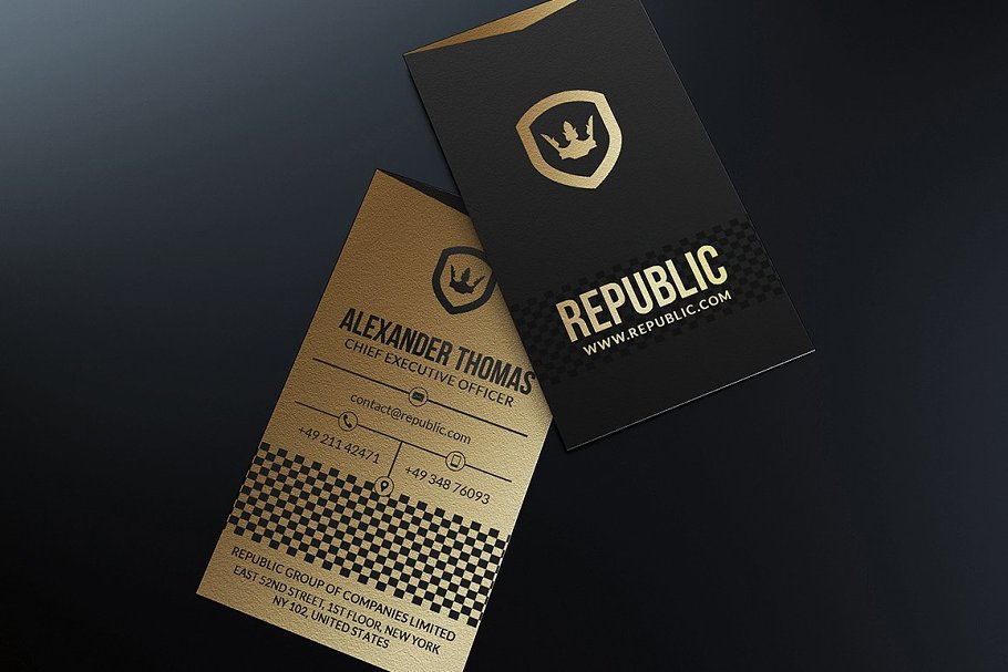 50 Golden Business Cards Bundle in Business Card Templates - product preview 31