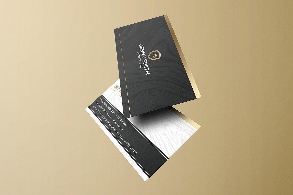 50 Golden Business Cards Bundle in Business Card Templates - product preview 29