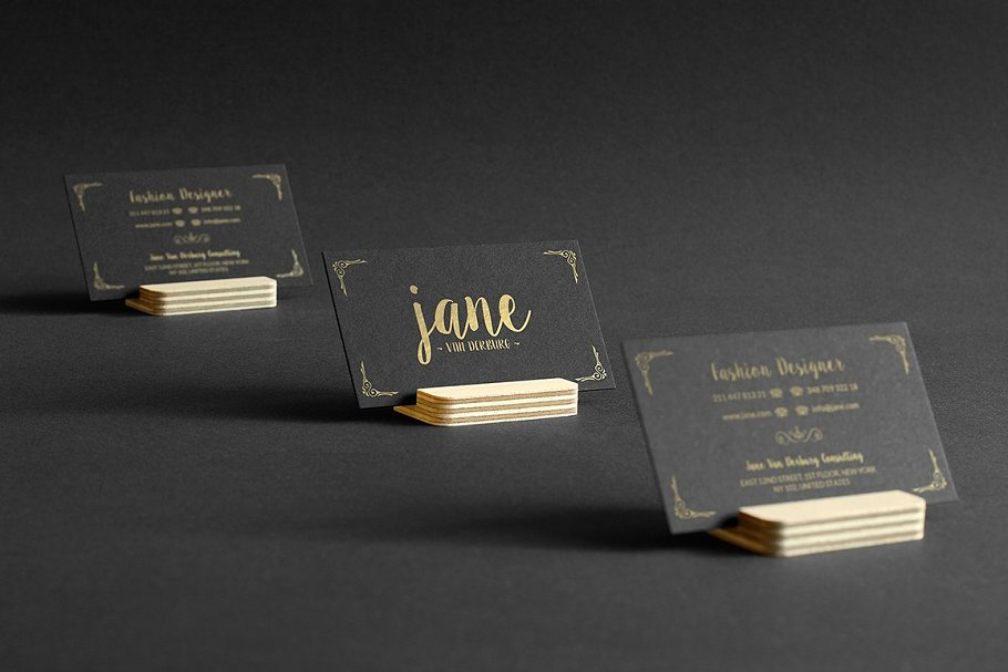 50 Golden Business Cards Bundle in Business Card Templates - product preview 27