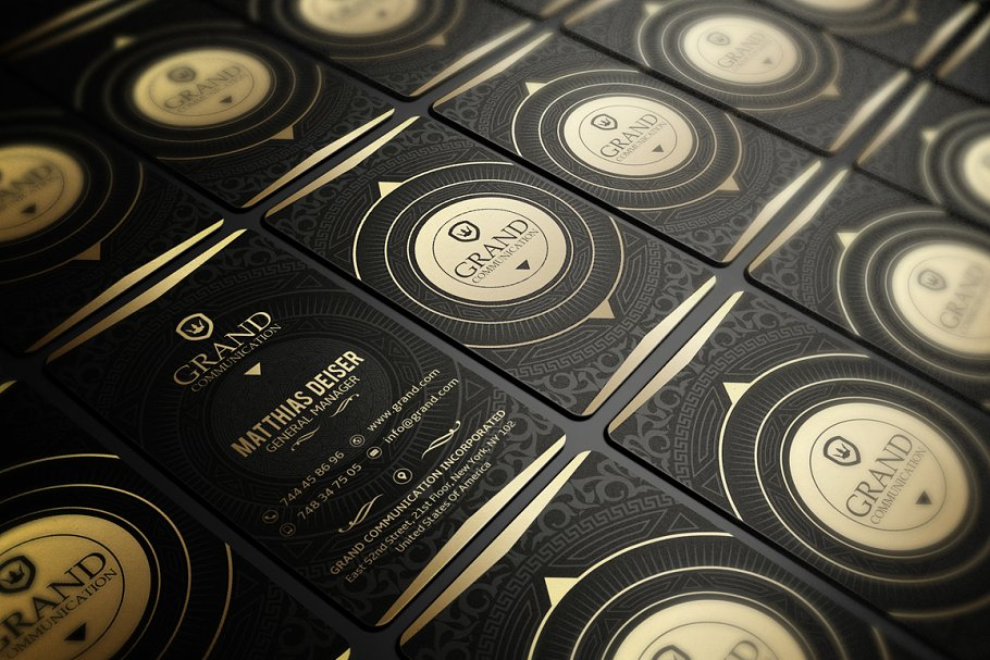 50 Golden Business Cards Bundle in Business Card Templates - product preview 23