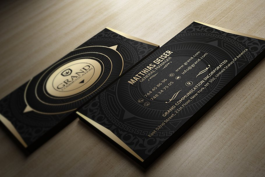 50 Golden Business Cards Bundle in Business Card Templates - product preview 19