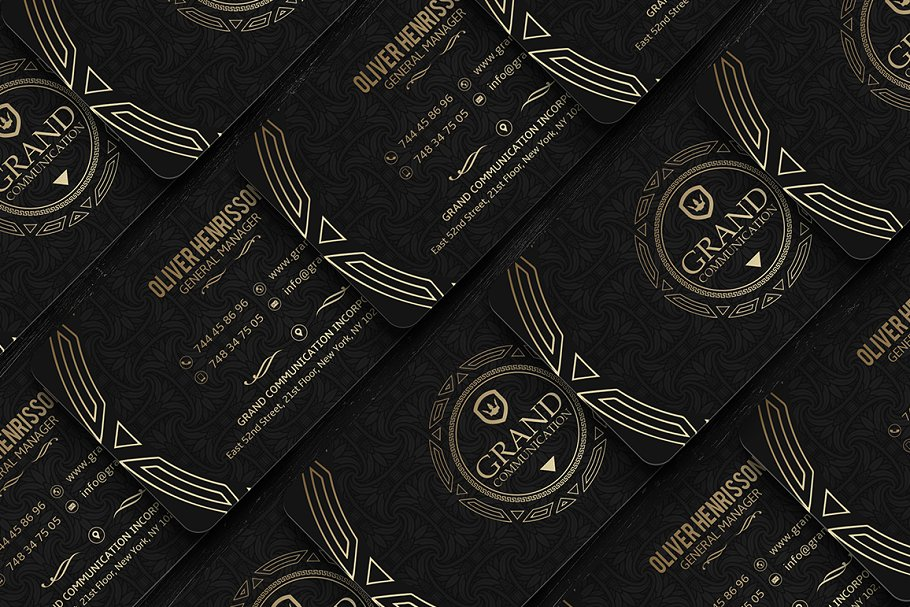 50 Golden Business Cards Bundle in Business Card Templates - product preview 12