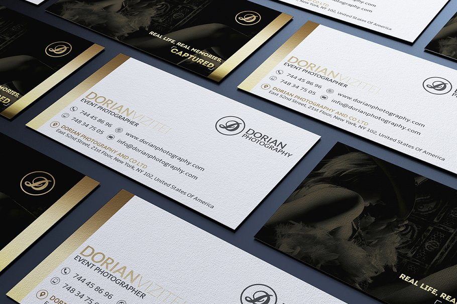 50 Golden Business Cards Bundle in Business Card Templates - product preview 14