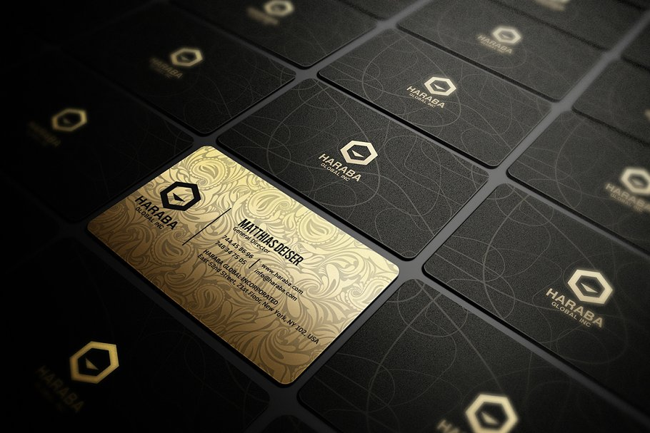 50 Golden Business Cards Bundle in Business Card Templates - product preview 8