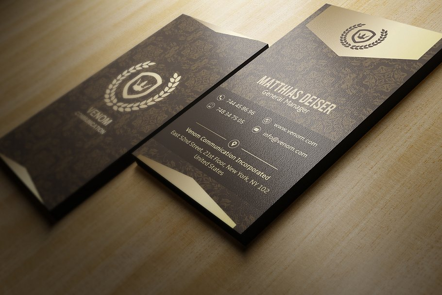 50 Golden Business Cards Bundle in Business Card Templates - product preview 10