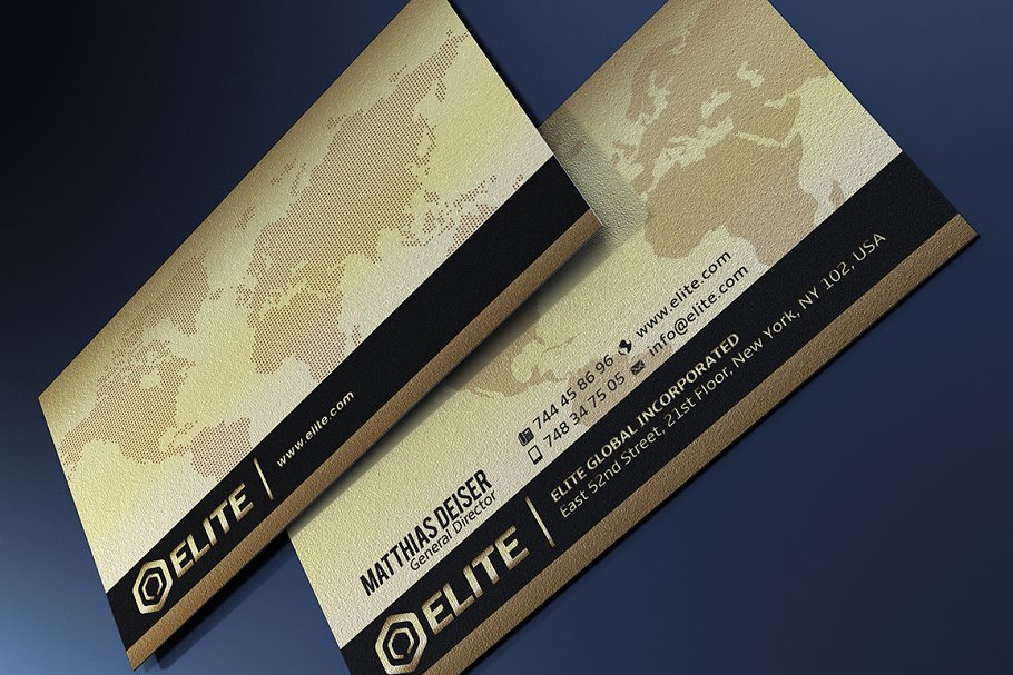 50 Golden Business Cards Bundle in Business Card Templates - product preview 6