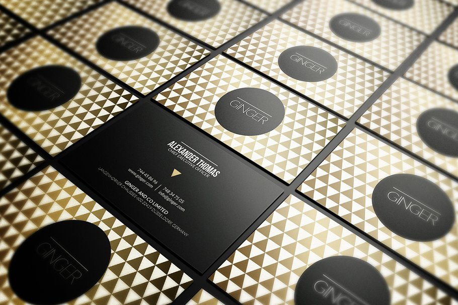 50 Golden Business Cards Bundle in Business Card Templates - product preview 18