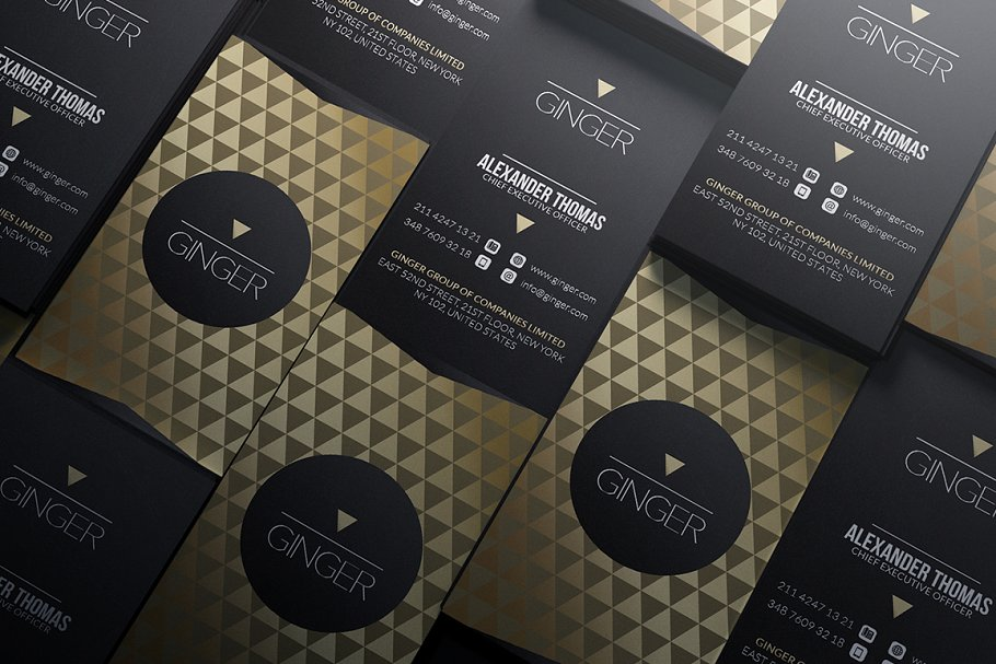 50 Golden Business Cards Bundle in Business Card Templates - product preview 16