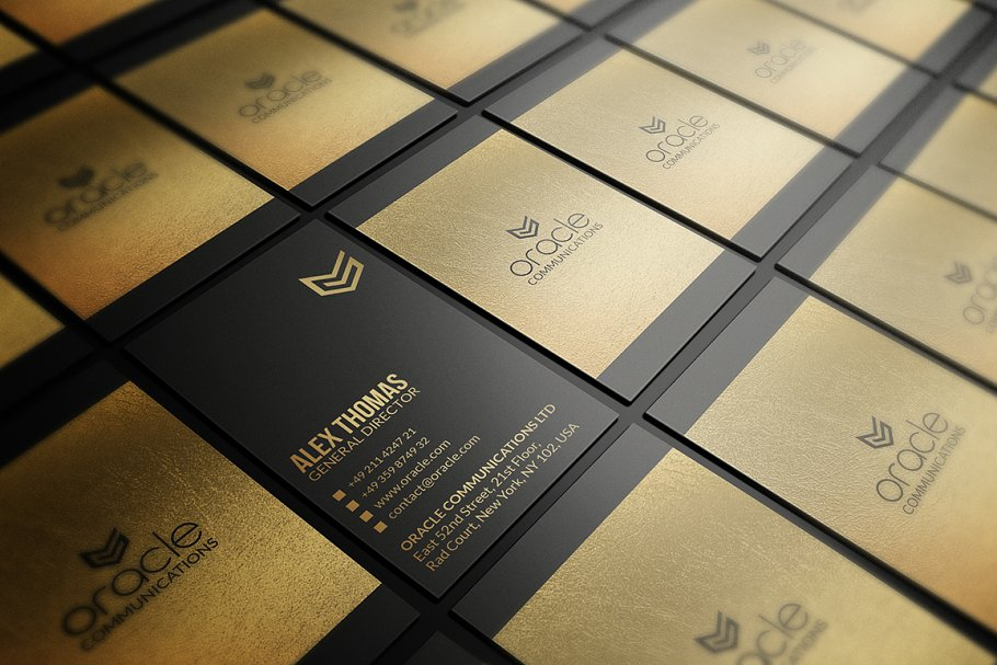 50 Golden Business Cards Bundle in Business Card Templates - product preview 21