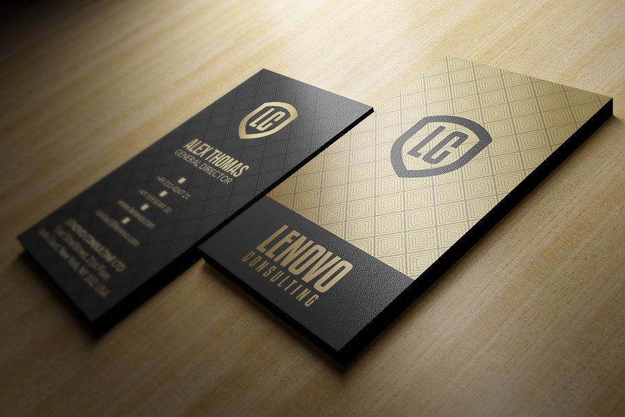50 Golden Business Cards Bundle in Business Card Templates - product preview 2