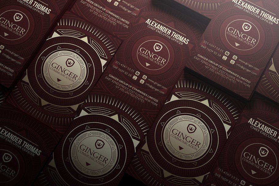 50 Golden Business Cards Bundle in Business Card Templates - product preview 4