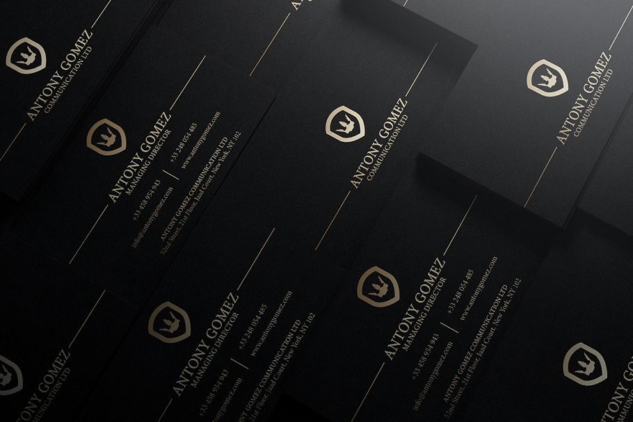 50 Golden Business Cards Bundle in Business Card Templates - product preview 1