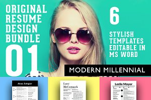 3 Stylish Resume Designs Bundle