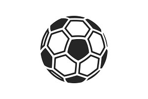 Football soccer ball icon isolated on white background.
