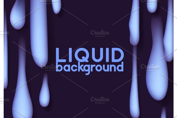 Melting Liquid Flowing Into The Bottom Of The Drops Background