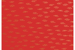 Seamless pattern of golden clouds in Chinese style