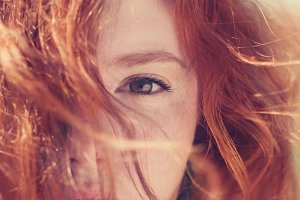 portrait of beautiful redhaired girl