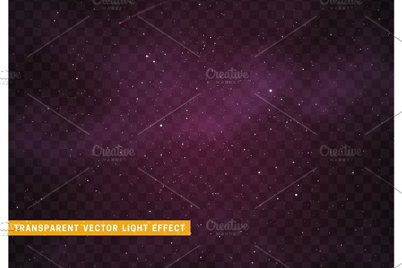 Space Stars Background Light Night Sky Vector Transparent Effect