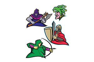 Medieval Court Character Mascot Coll
