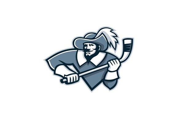 Musketeer Ice Hockey Mascot