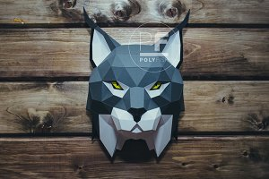 DIY Lynx Head 3D model template