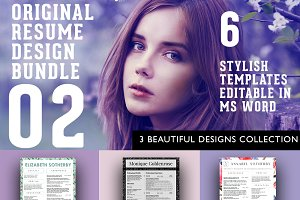 3 Beautiful Resume Designs Bundle