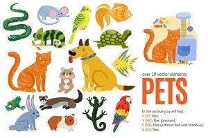 Pets Cartoon Set