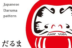 Japanese pattern DARUMA