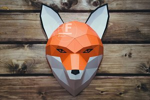 DIY Fox Head 3D model template