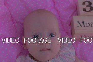 Portrait of three months baby girl