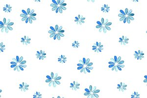Watercolor drops: seamless patterns