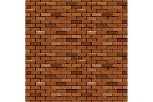 Red brick wall vector backgrounds