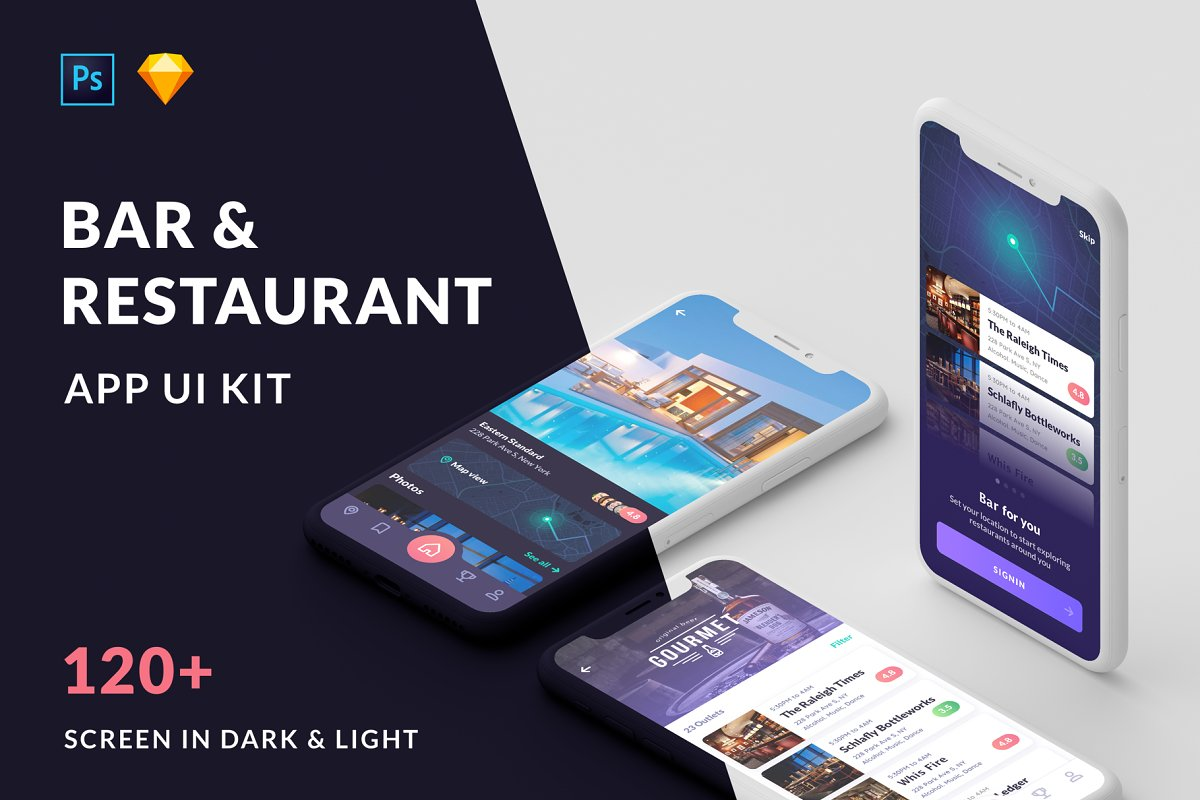 Cabar iOS UI Kit - Restaurants, Bar ~ App Templates