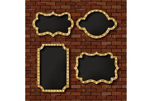 Illuminated retro frames set