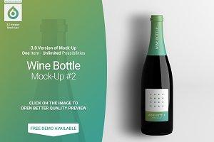 Wine Bottle Mock-Up #2 (V3.0)