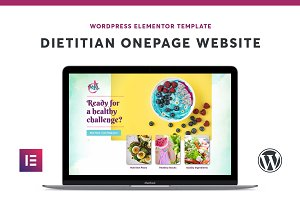 Dietitian Elementor OnePage Template