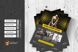 Grand Opening GYM Flyer Template