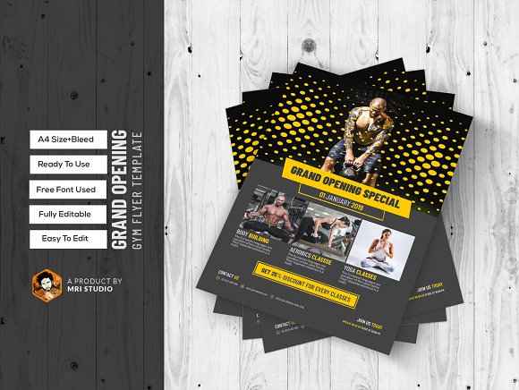 grand opening gym flyer template flyer templates creative daddy