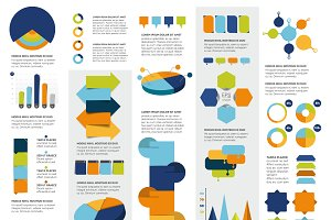 Mega set of infographics elements