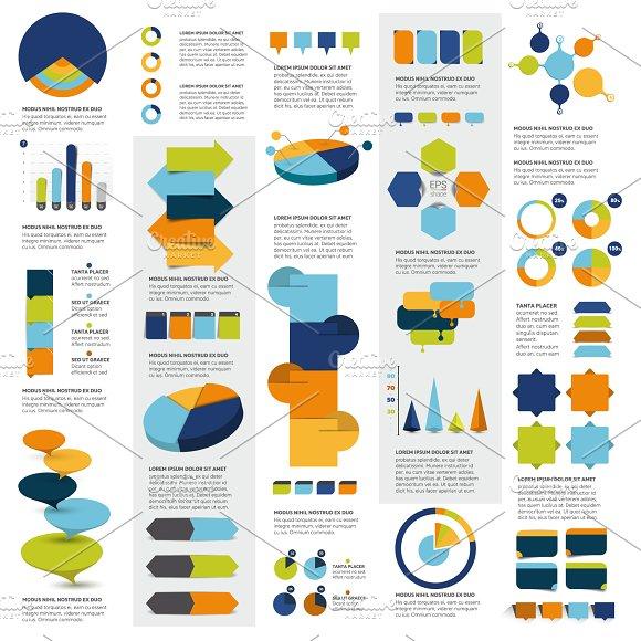 Mega set of infographics elements in Illustrations
