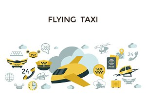 bundle of 10 flying taxi drone sets