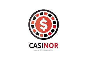 Vector casino logo combination.