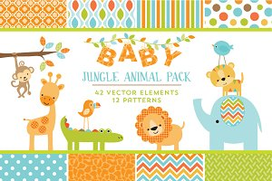 Baby Jungle Animal Pack