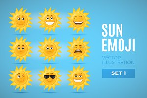 Sun Emoticons - Set 1