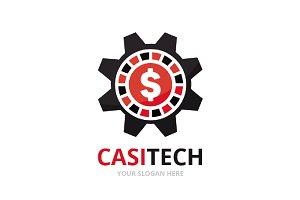 Vector casino and gear logo