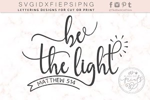 Be the light SVG DXF PNG EPS