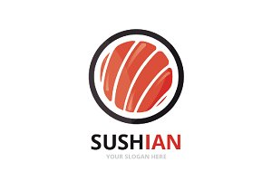 Vector sushi logo combination.