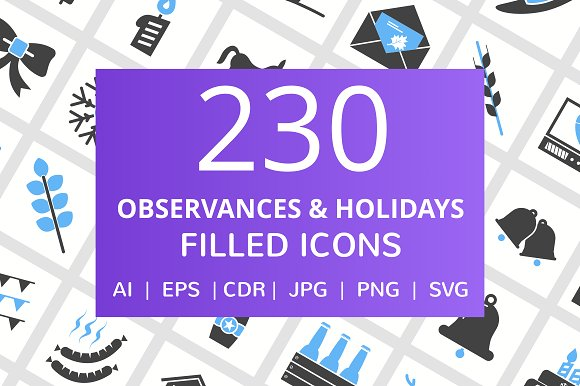 230 Observance Holiday Filled Icon