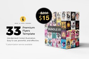 33 Premium Party Flyers Bundle